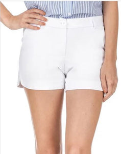 Side-Round Shorts White