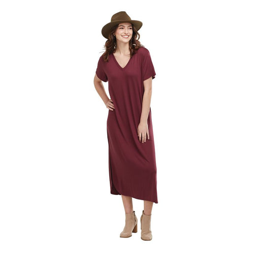 JoJo Midi Dress Burgandy