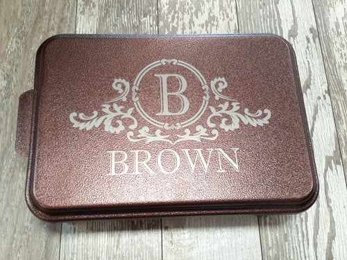 Scroll Last Name Personalized Cake Pan