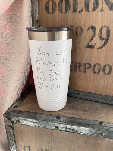 Hand Written Love Note 20oz. Tumbler