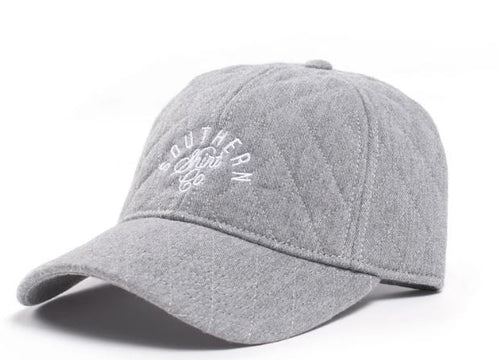 Quilted Signature Cap Heather Gray