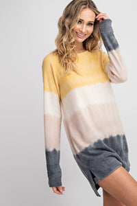 Mustard Multi-Striped XLong Sweater