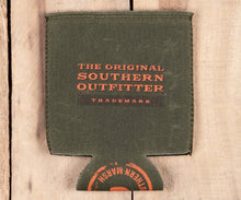 Load image into Gallery viewer, Waxed Cotton Coozie Dark Green