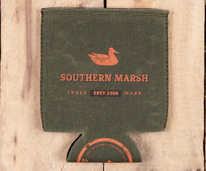 Waxed Cotton Coozie Dark Green