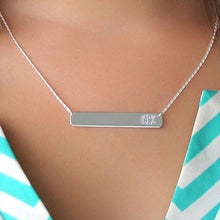 Load image into Gallery viewer, Sterling Silver Bar Necklace 35mm