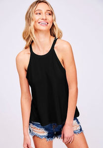 Solid Knit Top Black