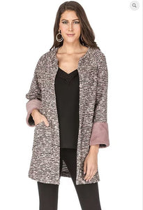 Faux Fur Open Coat