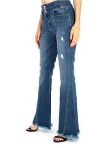 Ashley High Rise Twisted Outseam Flare