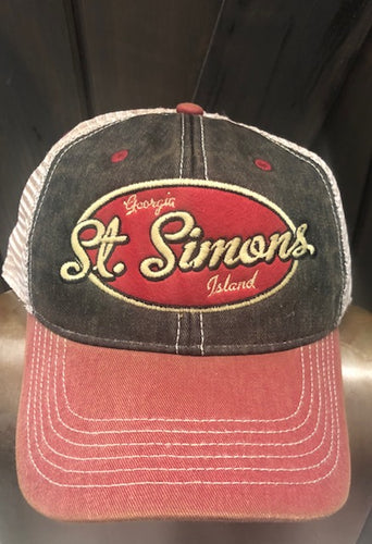 Black/Cardinal Trucker Hat SSI