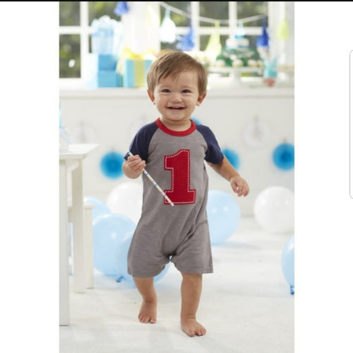 Baby Boy Bday One-piece 12-18mos