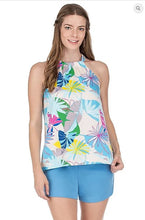 Load image into Gallery viewer, Tie Back Halter Top Palm Print