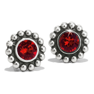 Twinkle Mini Post Earrings Ruby