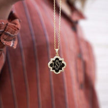Load image into Gallery viewer, Sterling Silver Quatrefoil Necklace