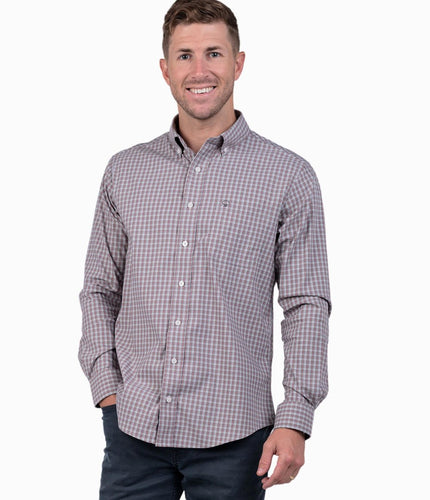 Lawrence Check Long Sleeve Brushed Nickel