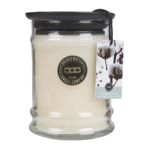 Small Jar White Cotton Candle