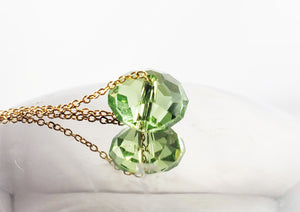 Peridot Crystal Pendant Necklace