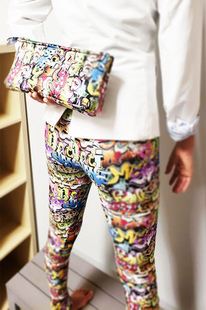 Yoga Travel Pants Art Basel Grafitti Print