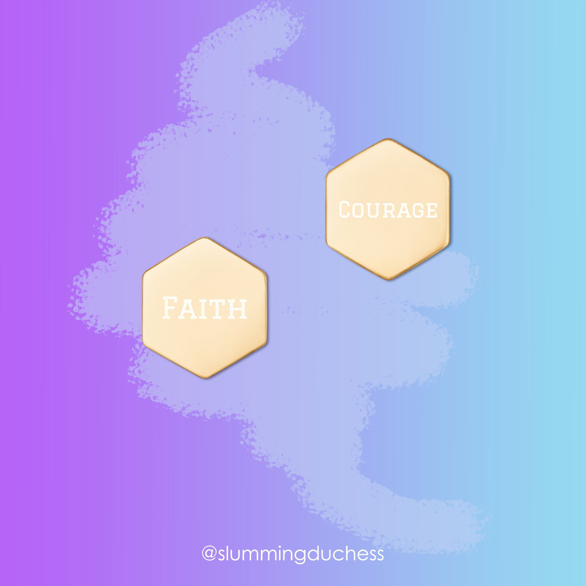 faith and courage custom earrings