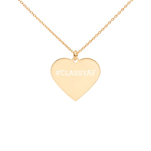 Retro Heart Pendant Stacking Necklace #ClassyAF