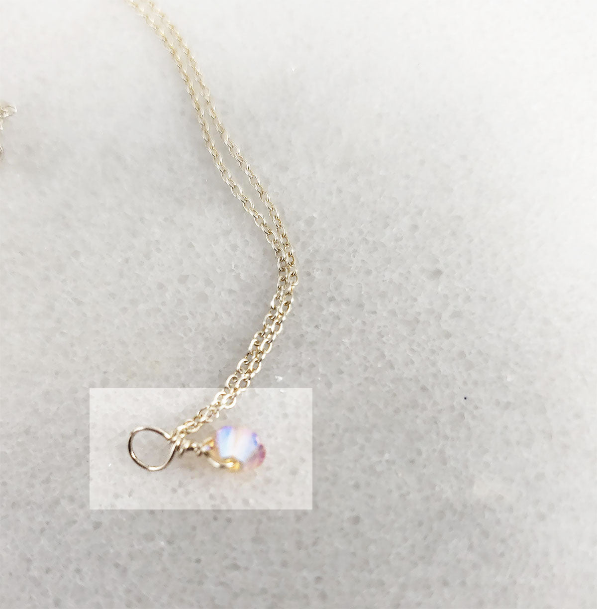 Vintage Rose Swarovski Crystal Necklace