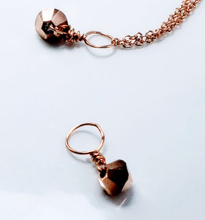 Tiny Rose Gold Swarovski   Crystal September  Necklace