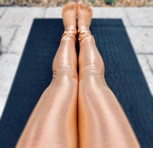 Metallic Yoga Travel Pants