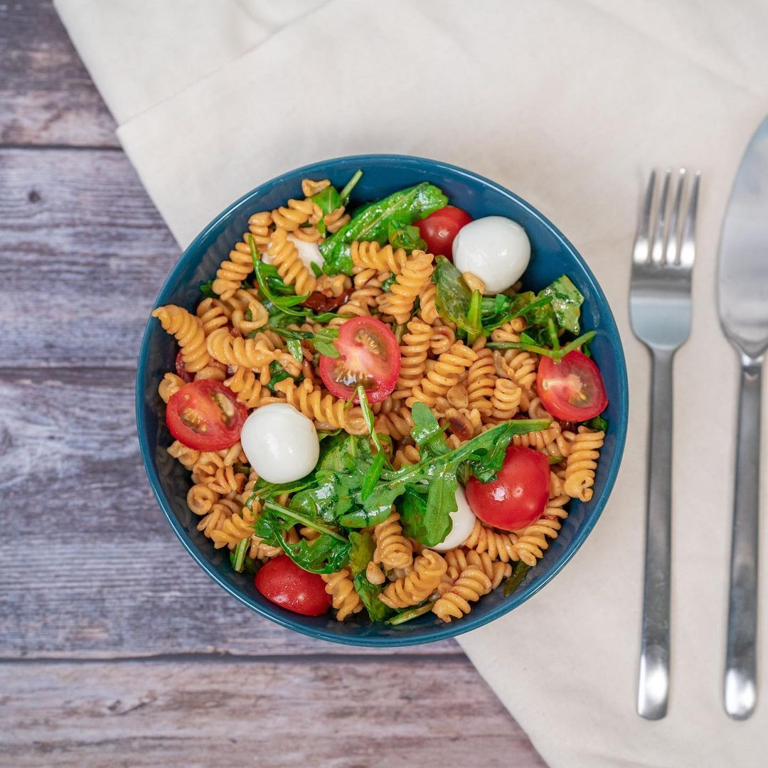 High Protein Nudelsalat