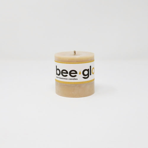 BeeGlo Smooth Pillar Beeswax Candle