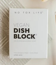 No Tox Life - DISH BLOCK® Zero Waste Dish Washing Bar - Free of Dyes and Fragrance