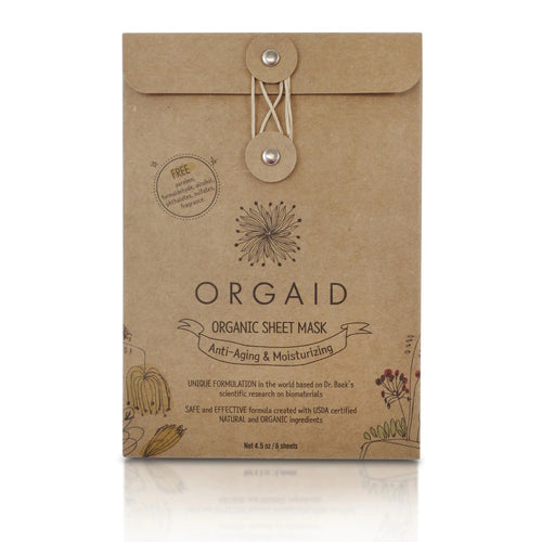 Orgaid Anti-Aging and Moisturizing Organic Sheet Mask Box (4 sheets)