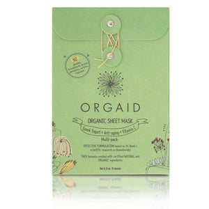Orgaid Organic Sheet Mask Multi-Pack (2 of each mask - 6 sheets)