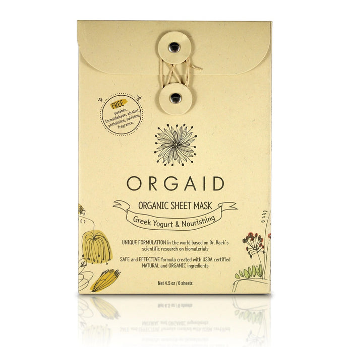 Orgaid Greek Yogurt & Nourishing Organic Sheet Mask Box (4 Sheets)
