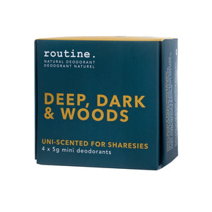 Routine Deodorant Deep, Dark & Woods Mini Kit
