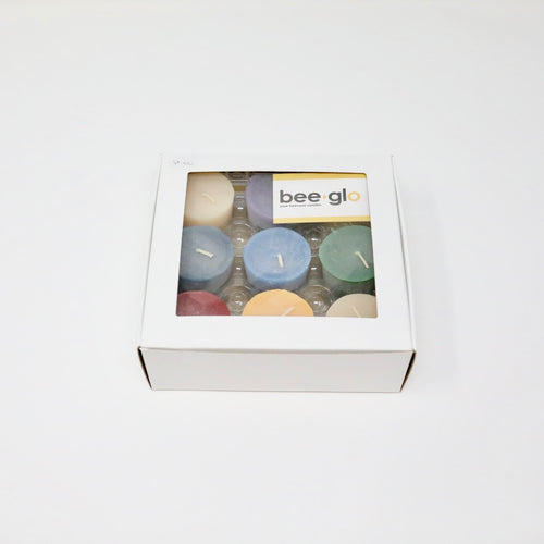BeeGlo Chakra Votives Beeswax Candle Set