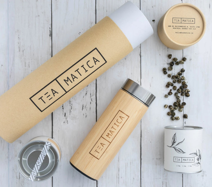 Teamatica Tea Gift Set | Bamboo Tumbler with Tea Infuser