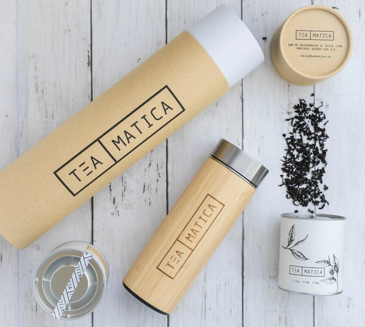 Teamatica Lapsang Souchong and Tea Tumbler | Black Tea Gift Set
