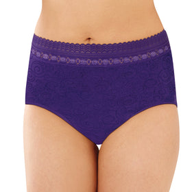Bali Comfort Revolution Seamless Microfiber Lace Brief 803J