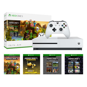 Microsoft Xbox One S 1TB Minecraft Creators Bundle, White, 234-00655Microsoft Xbox One S 1TB Minecraft Creators Bundle, White,