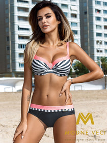 Women Fashion Beach Sexy Push Up Bathing Swimming 4 Colors Bikini Halter Swimwear