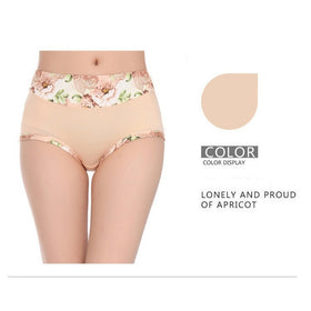 1Pcs Woman's Fashion Underpants Modal Ladies Underwear Middle-waisted Fashion Print Shorts