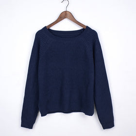 Autumn winter women sweaters and pullovers korean style long sleeve casual crop sweater