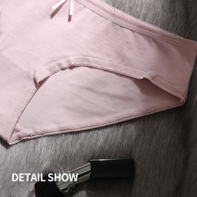Women Brief New Sexy Cotton Crotch Panties Mid-Rise  Waist Pantie No Trace Large Size Comfortable and Breathable