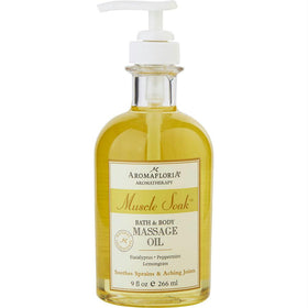 Aromafloria Bath And Body Massage Oil 9 Oz Blend Of Eucalyptus, Peppermint, And Lemongrass By Aromafloria