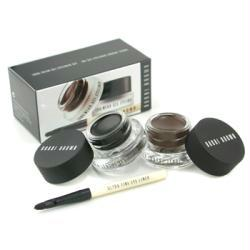Bobbi Brown Long Wear Gel Eyeliner Duo: 2x Gel Eyeliner 3g ( #black Ink, #sepia Ink ) + Mini Ultra Fine Eye Liner Brush --3pcs By Bobbi Brown