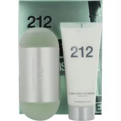 212 By Carolina Herrera Edt Spray 3.4 Oz & Body Lotion 3.4 Oz (travel Offer)