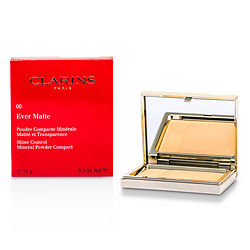 Clarins Ever Matte Shine Control Mineral Powder Compact - # 00 Transparent Opale --10g/0.35oz By Clarins