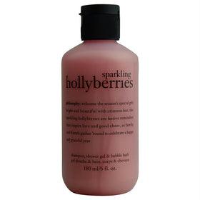 Sparkling Holly Berries Shampoo & Shower Gel & Bubble Bath--6oz