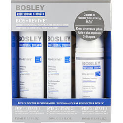 3 Piece - Bos Revive Nourishing Shampoo For Non Color Treated Hair 5.1 Oz & Bos Revive Volumizing Conditioner For Non Color Treated Hair 5.1 Oz & Bos Revive Thickening Treatment For Non Color Treated Hair 3.4 Oz