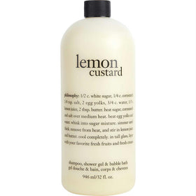 Lemon Custard Shampoo, Shower Gel & Bubble Bath --946ml/32oz