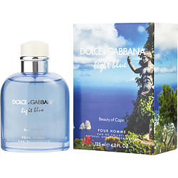 D & G Light Blue Beauty Of Capri By Dolce & Gabbana Edt Spray 4.2 Oz